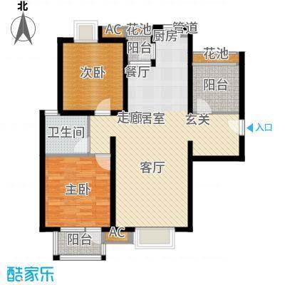 首开悦澜湾88.00㎡三期小高层12面积8800m户型