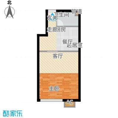 横塘西街住宅45.00㎡面积4500m户型