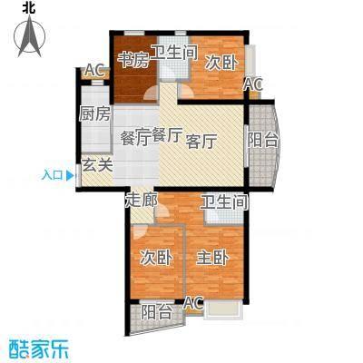咏春花苑128.00㎡2面积12800m户型