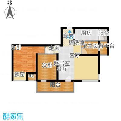 亿城左岸香颂88.96㎡2#3#7#8#标面积8896m户型