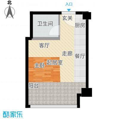 中元商务大厦公寓45.00㎡面积4500m户型