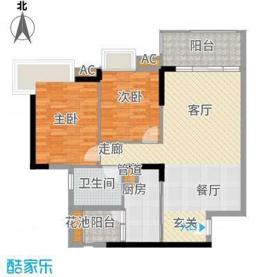 广州新塘新世界花园85.46㎡21栋04户型