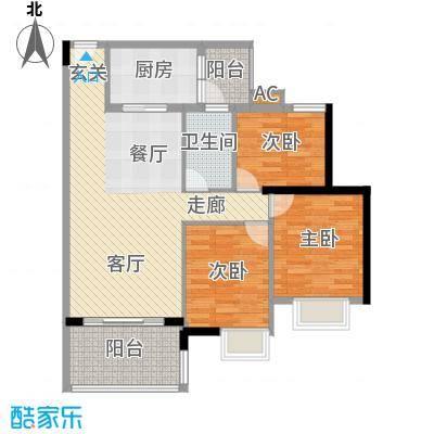 广州新塘新世界花园90.29㎡26栋1-6层02单元3室户型
