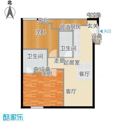 环球188公寓110.00㎡2面积11000m户型