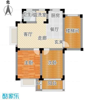 上层9号77.00㎡一期11#17#9#楼标面积7700m户型
