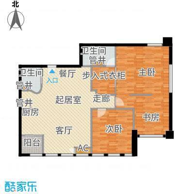 御湖国际119.91㎡一期B楼标准层B面积11991m户型