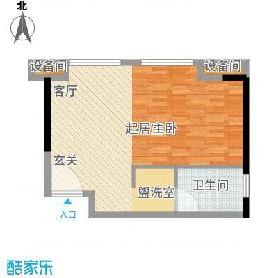 南海星汇云锦55.00㎡公寓02单元1室户型