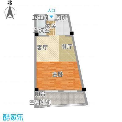中浩学府风景67.00㎡C1面积6700m户型