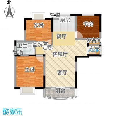亚东观云国际公寓105.00㎡1号楼标面积10500m户型