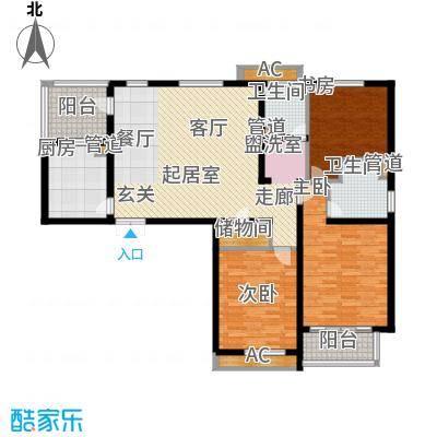 天启花园125.96㎡面积12596m户型