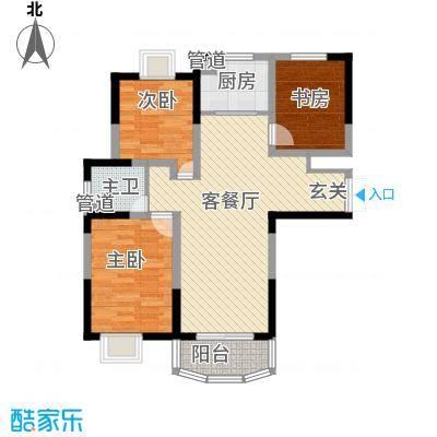 亚东观云国际公寓104.00㎡2、4号面积10400m户型