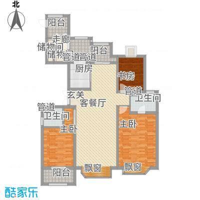 亚东观云国际公寓141.00㎡A2面积14100m户型