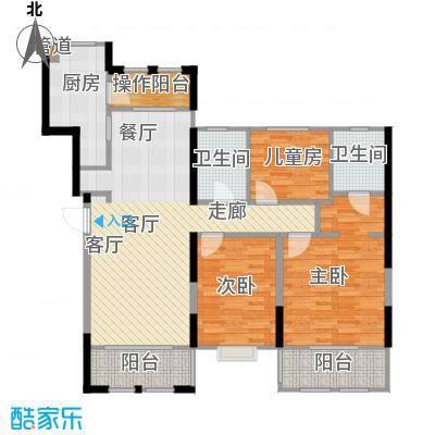 花境106.00㎡花园洋房3#5#标准层面积10600m户型