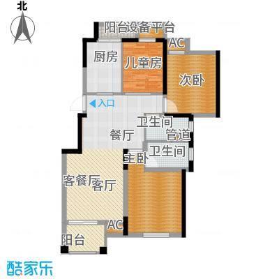 花境104.00㎡花园洋房3#5#等标准面积10400m户型