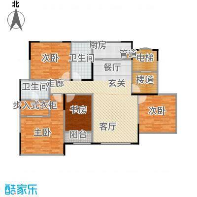 万道尊品123.00㎡一期高层标准层面积12300m户型