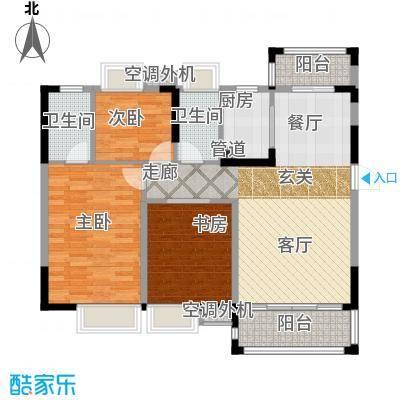富盈四季华庭107.00㎡1-5、11-12栋标准层A/B2户型
