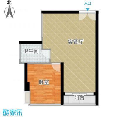佳润云凯雅寓54.00㎡54户型