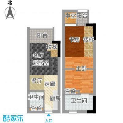 漕湖之星50.00㎡一期5#楼公寓标准层A户型