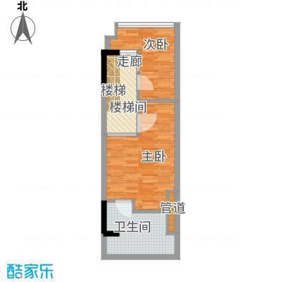 漕湖之星40.00㎡一期2#、5#公寓标准层E户型