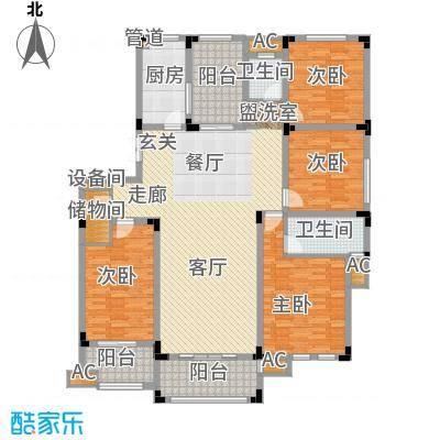 荣尚花苑166.00㎡5、6、11、12#标准层D户型