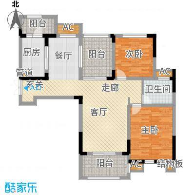 荣尚花苑104.00㎡9#标准层C户型