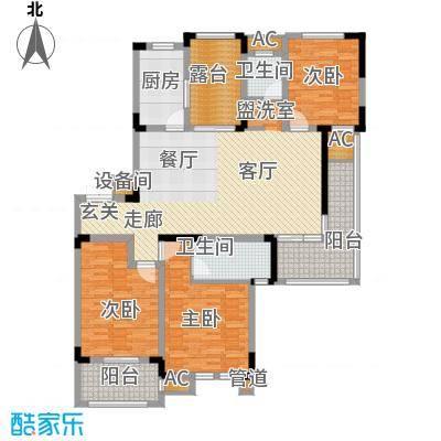 荣尚花苑142.00㎡13#标准层E户型