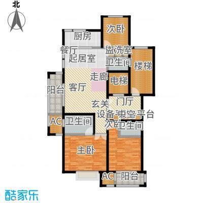 华润置地橡树湾141.00㎡LUX公寓6#高层标准层B户型