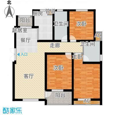 鸿运家园126.00㎡9#小高层标准层F户型