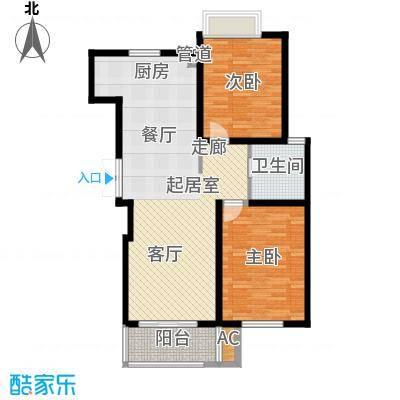 鸿运家园93.00㎡11、12#小高层标准层H户型