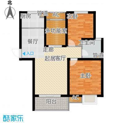 锦盛苑87.42㎡一期2#楼标准层h60户型
