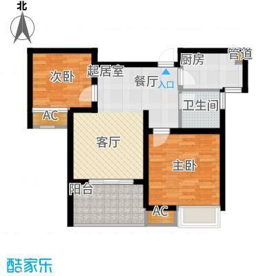 锦盛苑67.02㎡一期3#楼标准层h50户型