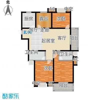 伟业金域华府138.00㎡五期6#、7#楼标准层G1户型