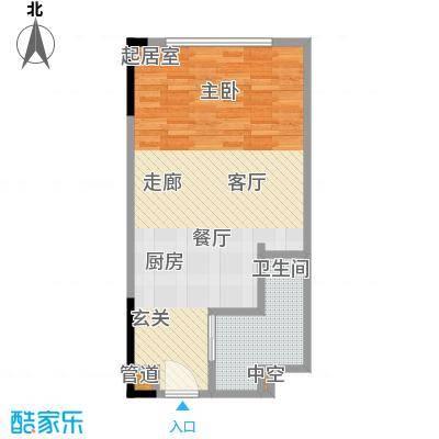 晋合公寓51.00㎡3#标准层B户型