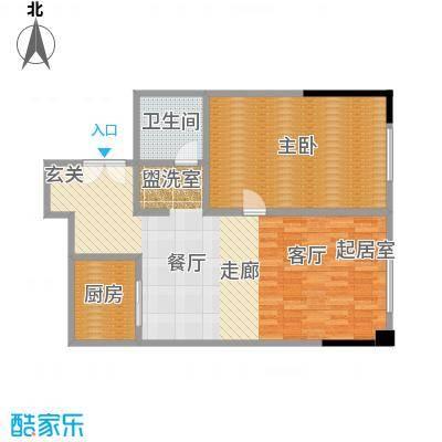 晋合公寓88.00㎡3#标准层C户型