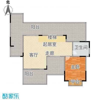 惠泽云锦城133.00㎡复式跃层户型