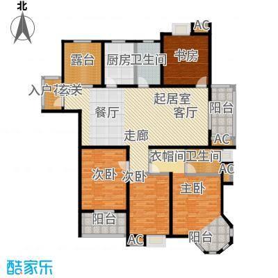 伟业金域华府183.00㎡五期65#楼标准层G1户型