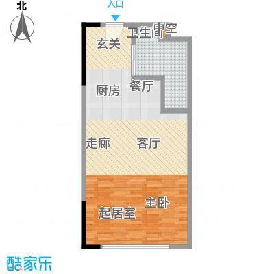 晋合公寓56.00㎡3#标准层F户型