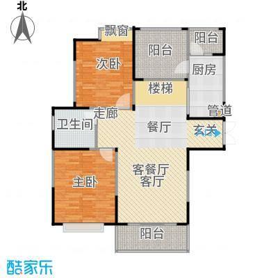 惠泽云锦城106.00㎡18层平面户型