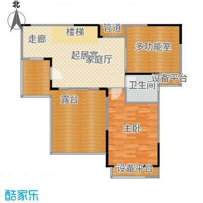 惠泽云锦城89.00㎡复式跃层户型