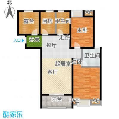 伟业金域华府105.00㎡五期7#楼标准层G4户型
