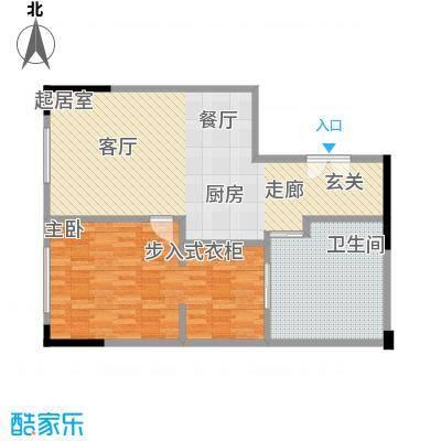 晋合公寓88.00㎡3#标准层C2户型