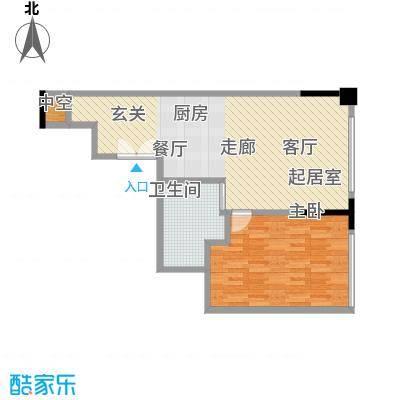 晋合公寓68.00㎡3#标准层D户型