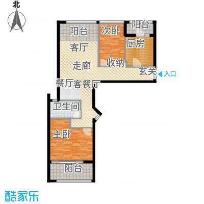 姑苏裕沁庭锦苑104.00㎡30#高层标准层A1(W)户型