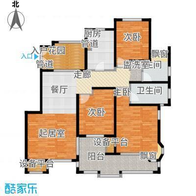 红鼎湾花园125.00㎡多层2-6#楼标准层J户型
