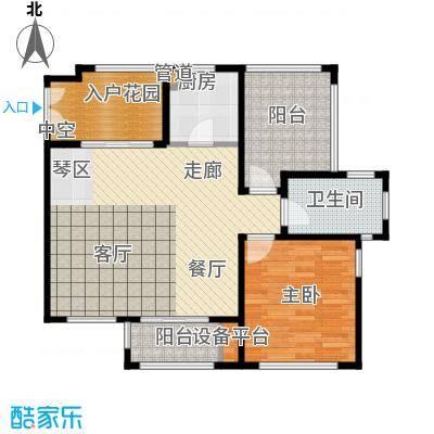 红鼎湾花园79.00㎡多层2-6#楼标准层L户型