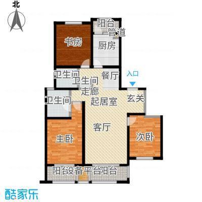 和融优山美地公馆121.00㎡一期1号楼标准层b1户型