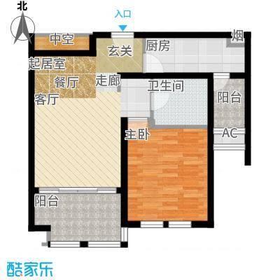 普罗旺斯66.00㎡小高层29号楼标准层A1户型