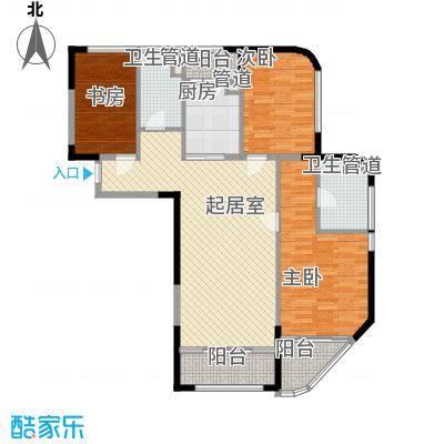 商旅新悦城135.00㎡一期1#2#标准层B户型
