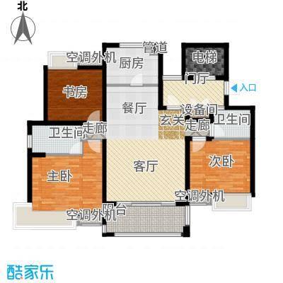 """平江怡景120.00㎡1#2#3#4#5#6#8#10#""""爵""""户型"""