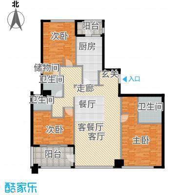 姑苏裕沁庭锦苑187.00㎡28#30#高层标准层C1(W)户型